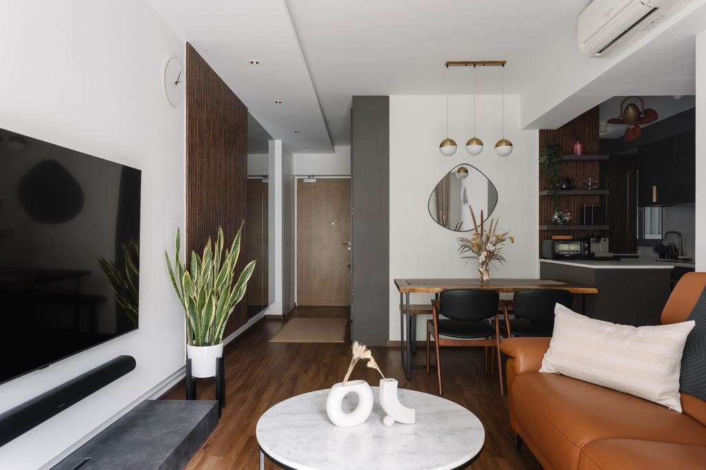 Contemporary, HDB, Living Room, Pasir Ris One, Interior Designer, ELPIS Interior Design