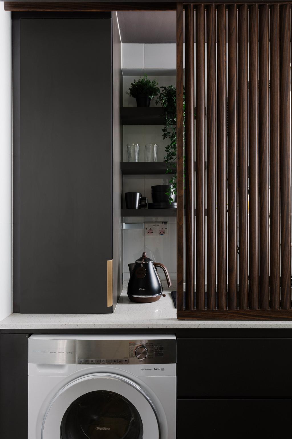 Contemporary, HDB, Kitchen, Pasir Ris One, Interior Designer, ELPIS Interior Design, Yard, Service Yard