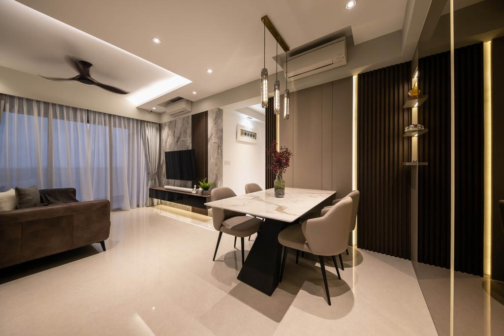 Modern, Condo, Dining Room, Rivercove Residences, Interior Designer, Space Atelier, Eclectic