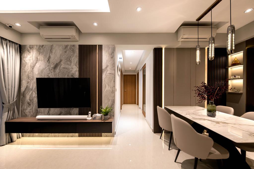 Modern, Condo, Living Room, Rivercove Residences, Interior Designer, Space Atelier, Eclectic