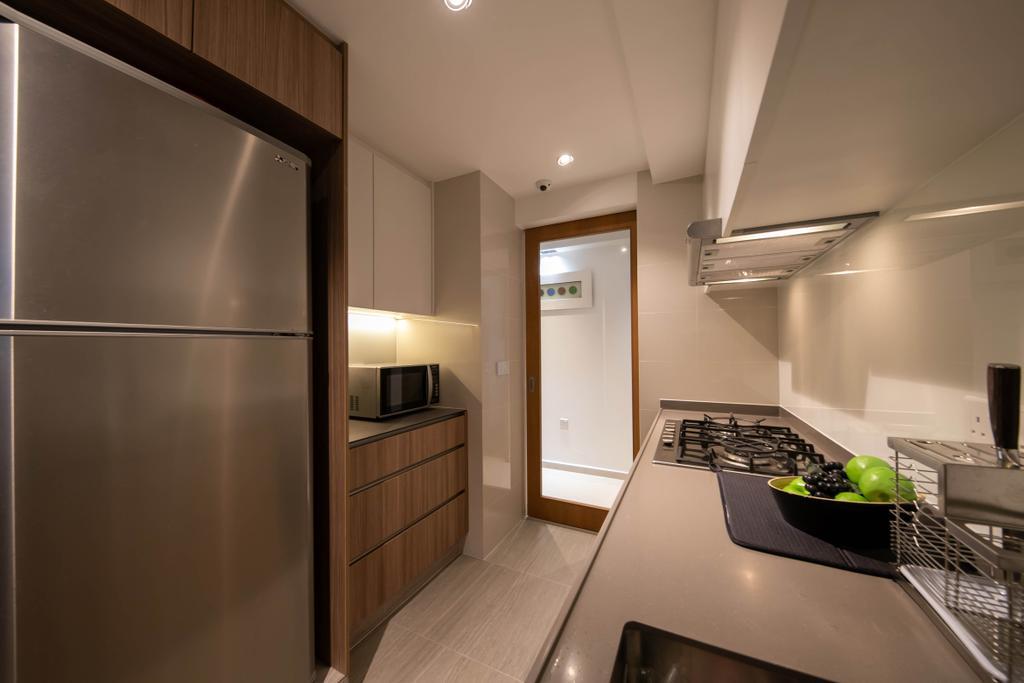 Modern, Condo, Kitchen, Rivercove Residences, Interior Designer, Space Atelier, Eclectic