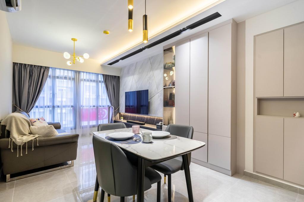 Contemporary, HDB, Dining Room, Alkaff Vista, Interior Designer, Design 4 Space