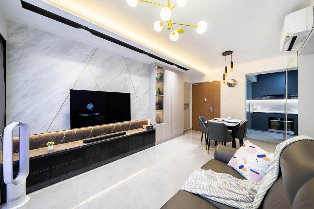 Contemporary, HDB, Living Room, Alkaff Vista, Interior Designer, Design 4 Space