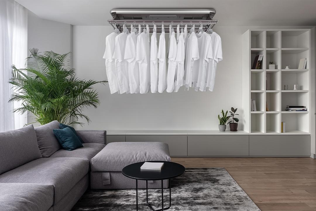 automated laundry drying system Steigen