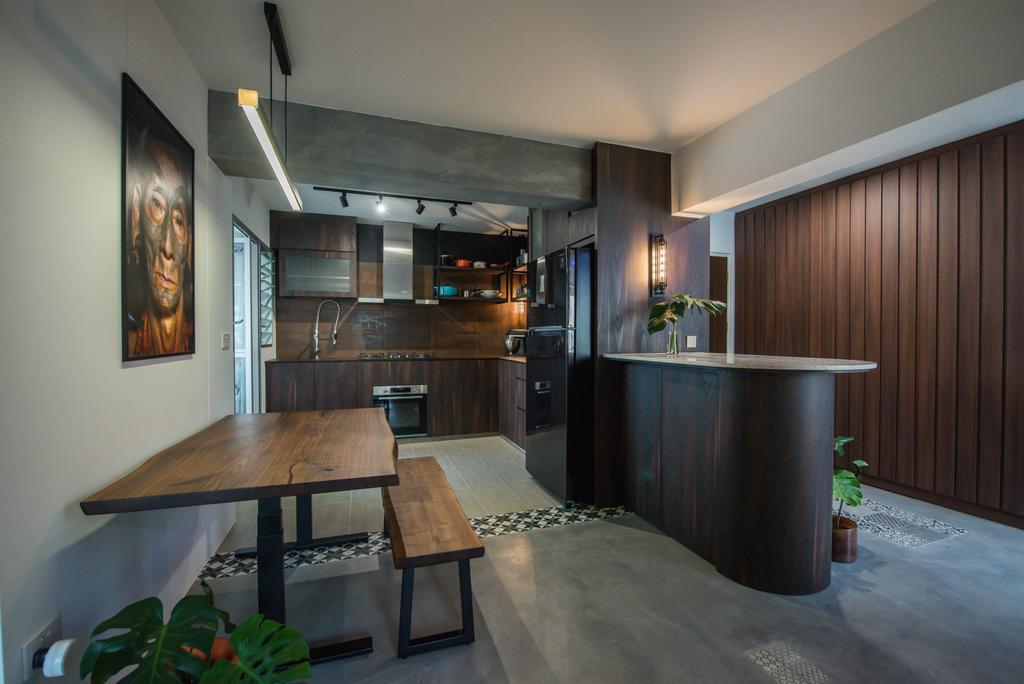 Contemporary, HDB, Dining Room, Bedok North, Interior Designer, Third Paragraph, Industrial
