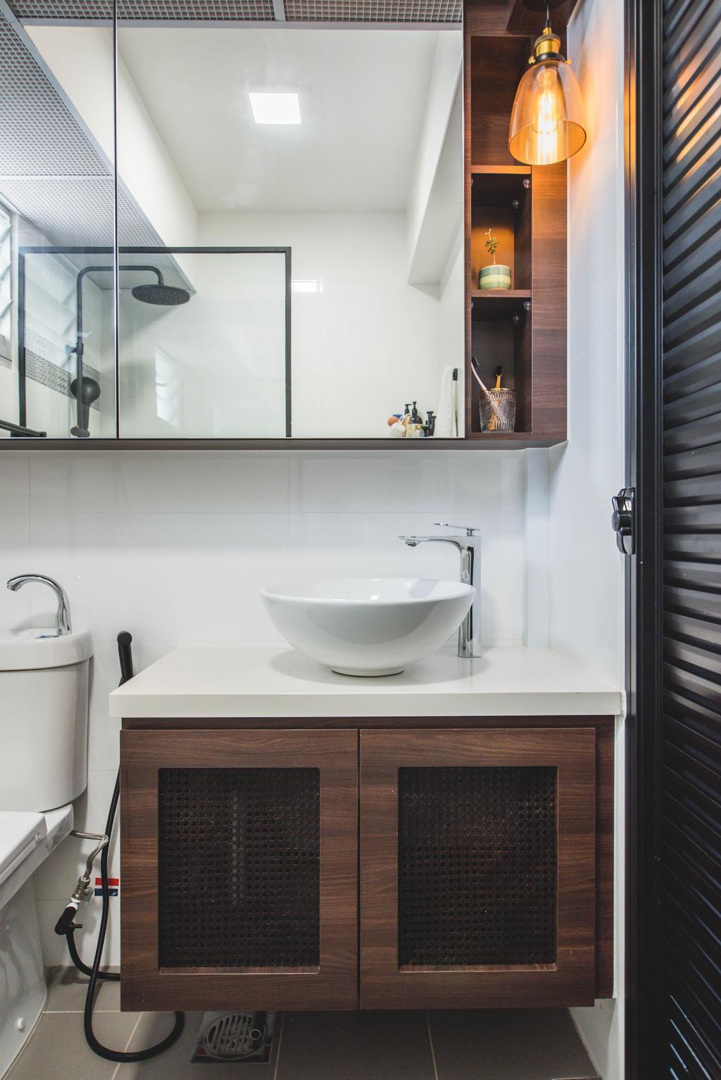 Contemporary, HDB, Bathroom, Bedok North, Interior Designer, Third Paragraph, Industrial