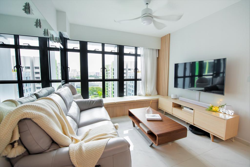 Modern, HDB, Living Room, Bidadari Park Drive, Interior Designer, Third Paragraph, Scandinavian, Muji