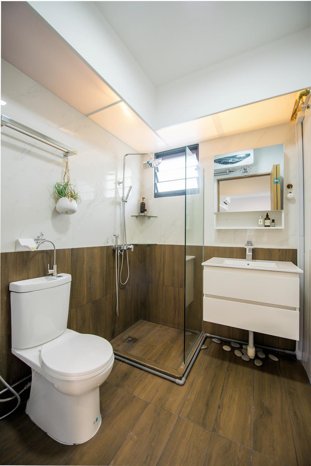 Modern, HDB, Bathroom, Bidadari Park Drive, Interior Designer, Third Paragraph, Scandinavian