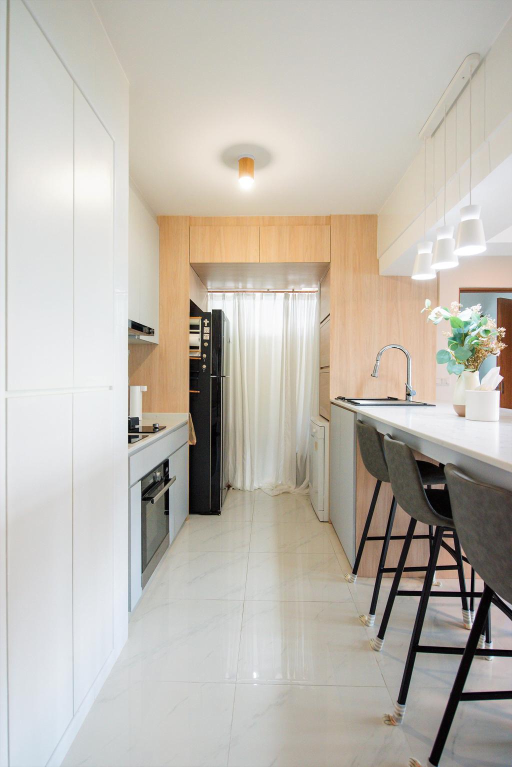 Modern, HDB, Kitchen, Bidadari Park Drive, Interior Designer, Third Paragraph, Scandinavian