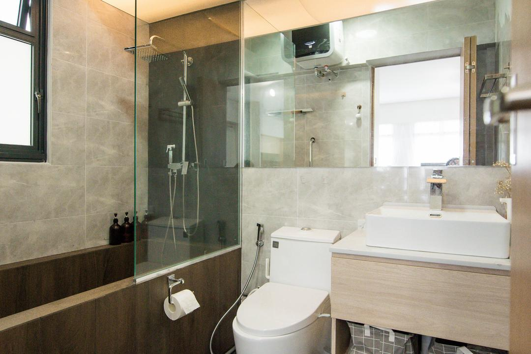 Bidadari Park Drive, Third Paragraph, Modern, Scandinavian, Bathroom, HDB, Bathtub, Bath Tub