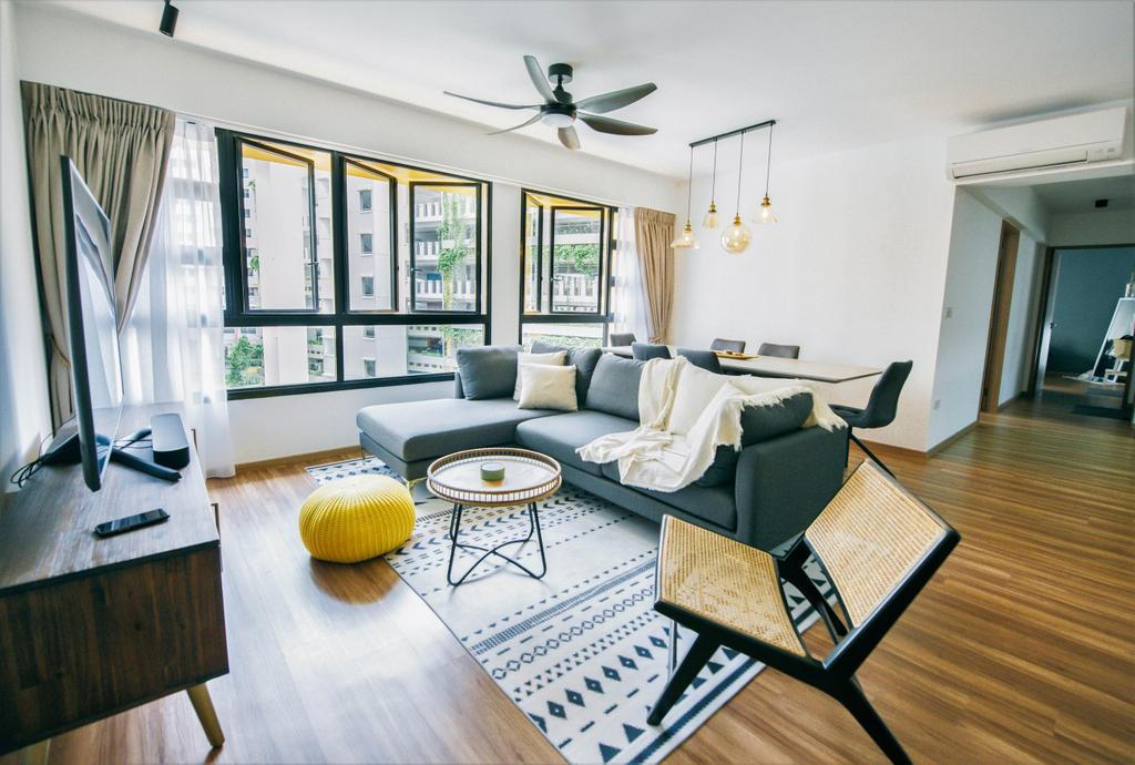Contemporary, HDB, Living Room, Bukit Batok West, Interior Designer, Third Paragraph, Scandinavian