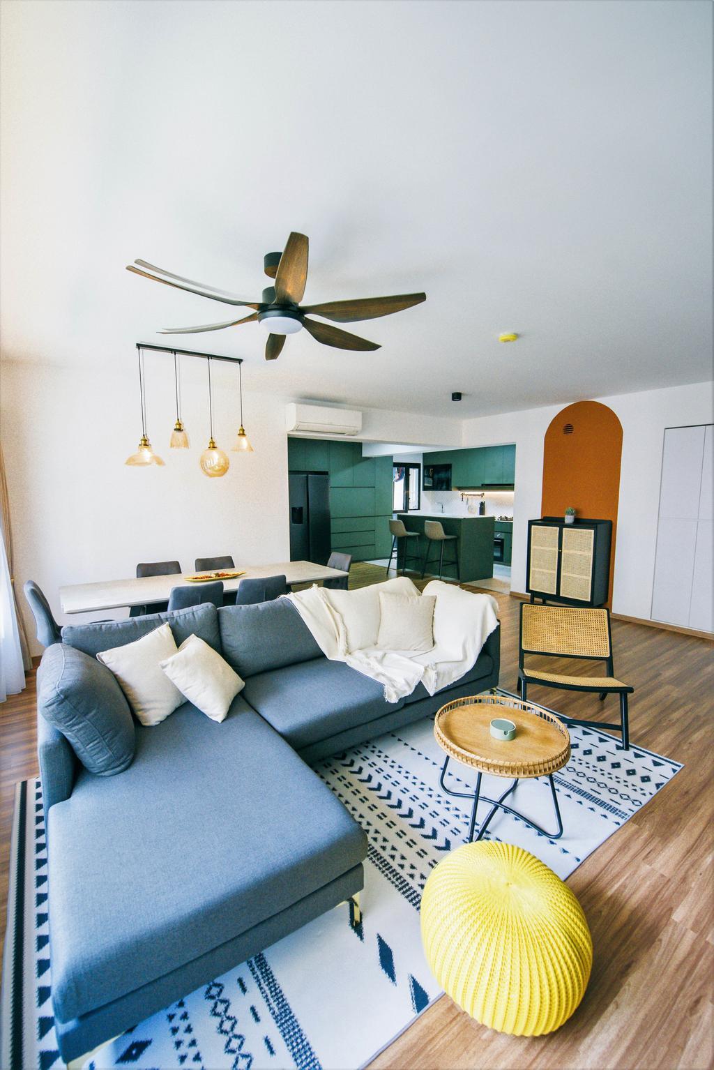 Contemporary, HDB, Living Room, Bukit Batok West, Interior Designer, Third Paragraph, Scandinavian