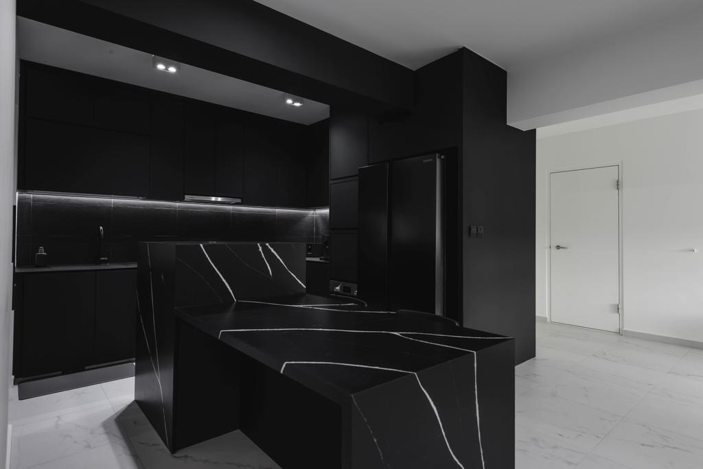 Minimalistic, HDB, Kitchen, Canberra Street, Interior Designer, Third Paragraph, Kitchen Island