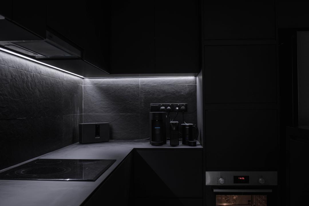 Canberra Street, Third Paragraph, Minimalistic, Kitchen, HDB, All Black, Black