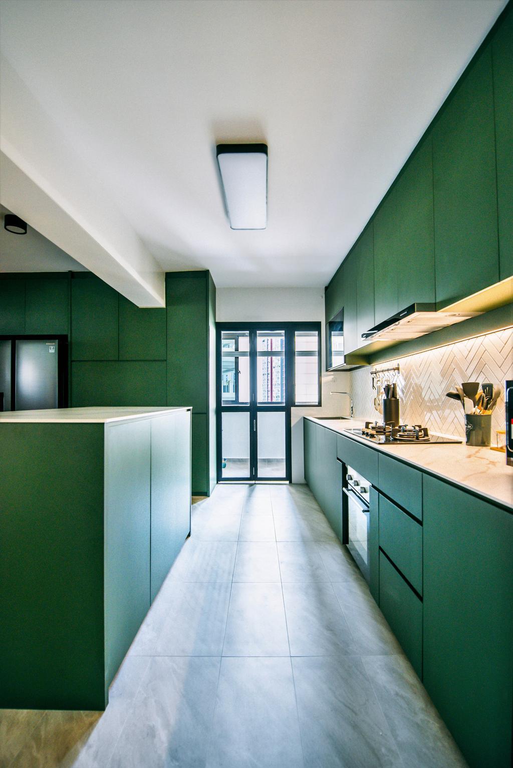 Contemporary, HDB, Kitchen, Bukit Batok West, Interior Designer, Third Paragraph, Scandinavian, Green