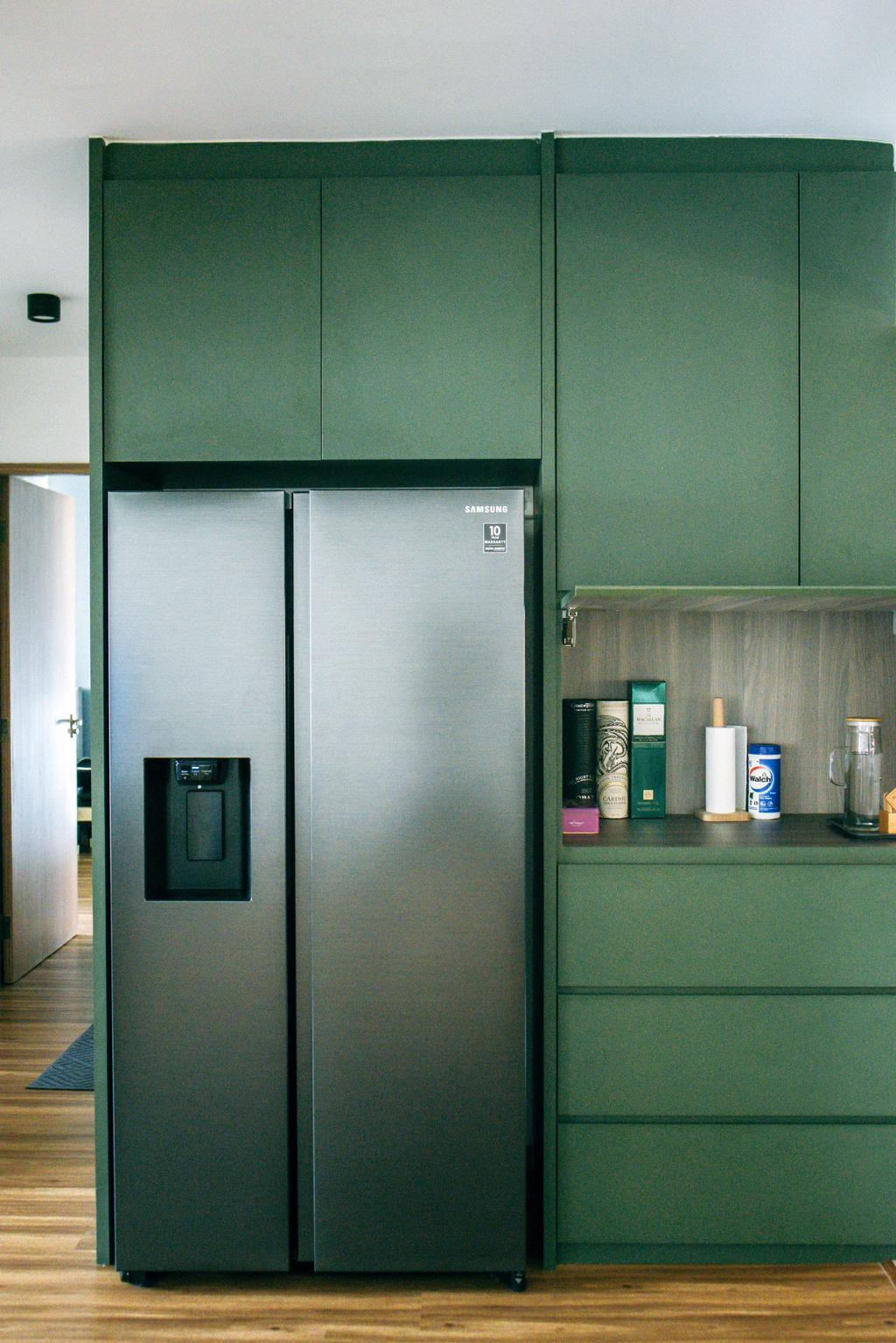 Contemporary, HDB, Kitchen, Bukit Batok West, Interior Designer, Third Paragraph, Scandinavian, Pocket Door, Hidden Storage, Pantry