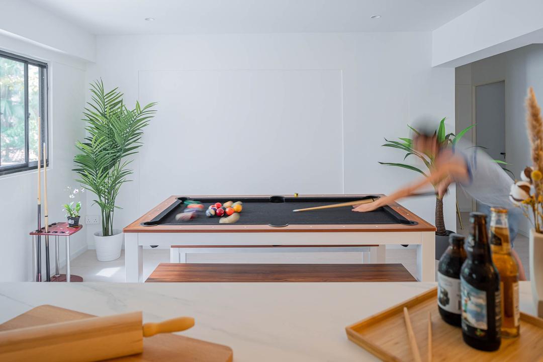 Ang Mo Kio Avenue 1, Insight.Out Studio, Scandinavian, Minimalistic, Dining Room, HDB, Entertainment