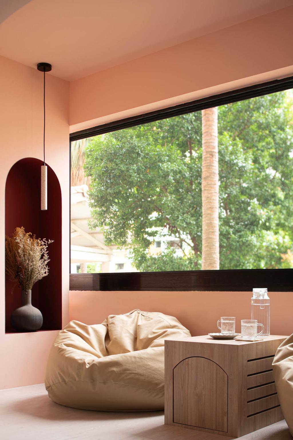 Scandinavian, HDB, Balcony, Ang Mo Kio Avenue 1, Interior Designer, Insight.Out Studio, Minimalistic, Pink