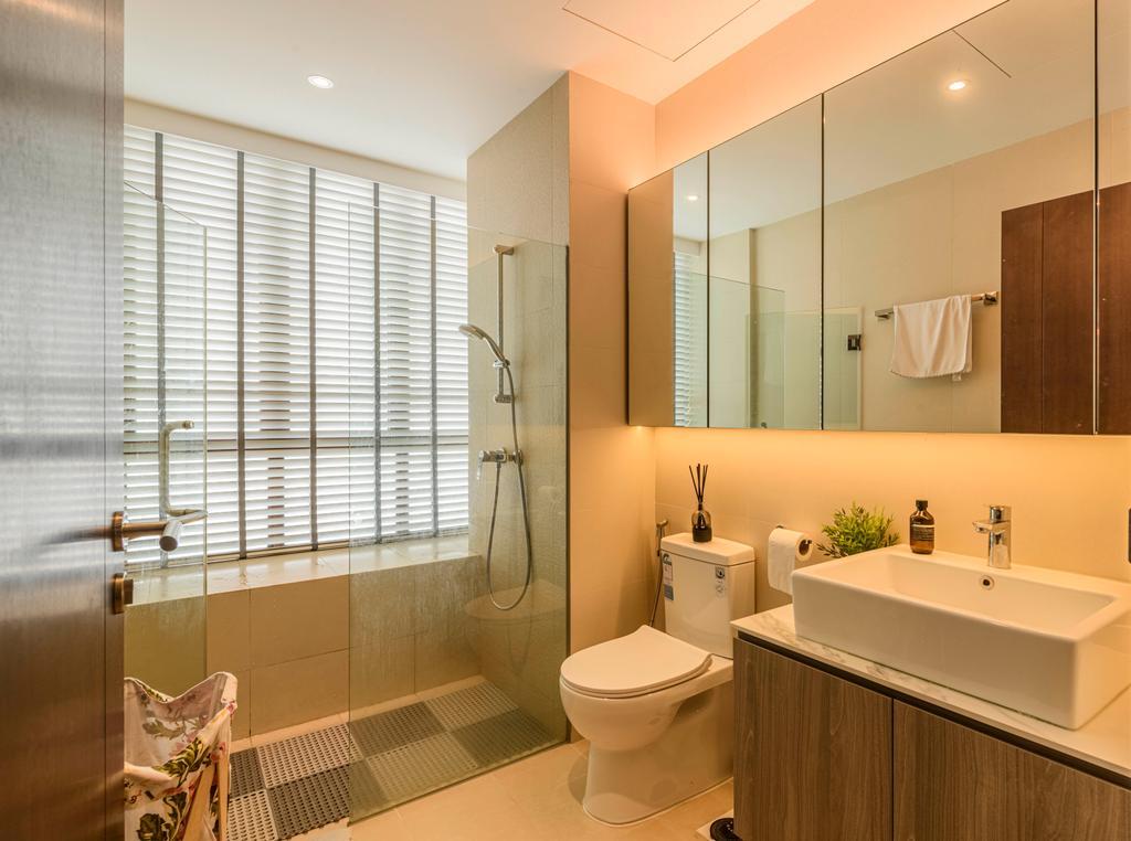Modern, Condo, Bathroom, Coastal View Residences, Interior Designer, Ovon Design