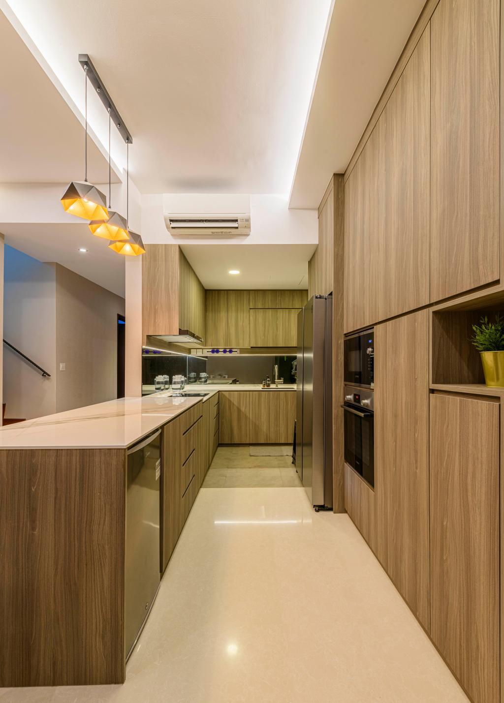 Modern, Condo, Kitchen, Coastal View Residences, Interior Designer, Ovon Design