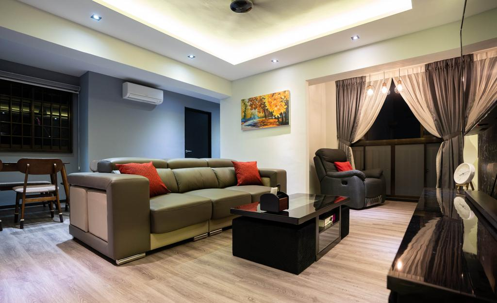 Modern, HDB, Living Room, Woodlands Drive, Interior Designer, Ataz Haus Interior Design