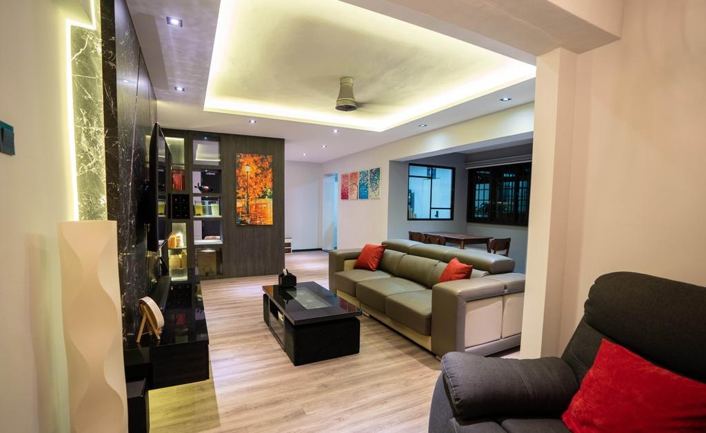 Modern, HDB, Living Room, Woodlands Drive, Interior Designer, Ataz Haus Interior Design