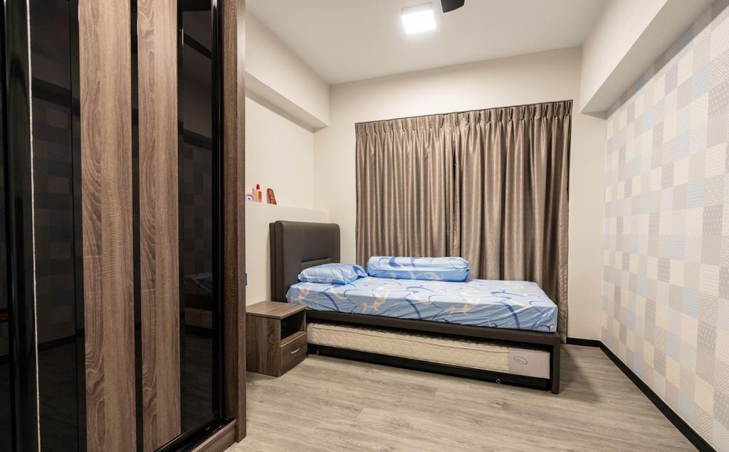 Modern, HDB, Bedroom, Woodlands Drive, Interior Designer, Ataz Haus Interior Design