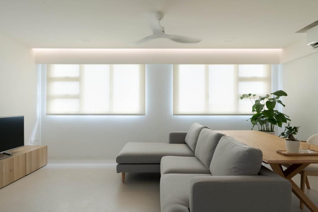 Minimalistic, HDB, Living Room, Ang Mo Kio Street 51, Interior Designer, Toke & Chen, Scandinavian