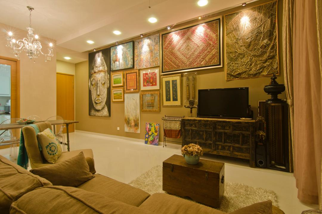 Vesta Condo, Ideal Design Interior, Traditional, Living Room, Condo, Painting, Tv Console, Display Pedestal, Pedestal, Ornamanets, Sofa, Chair, Rug, Coffee Table, Woodwork, Wood, Laminate, Wood Laminate, Chandelier, Track Lighting, Earthy Tones
