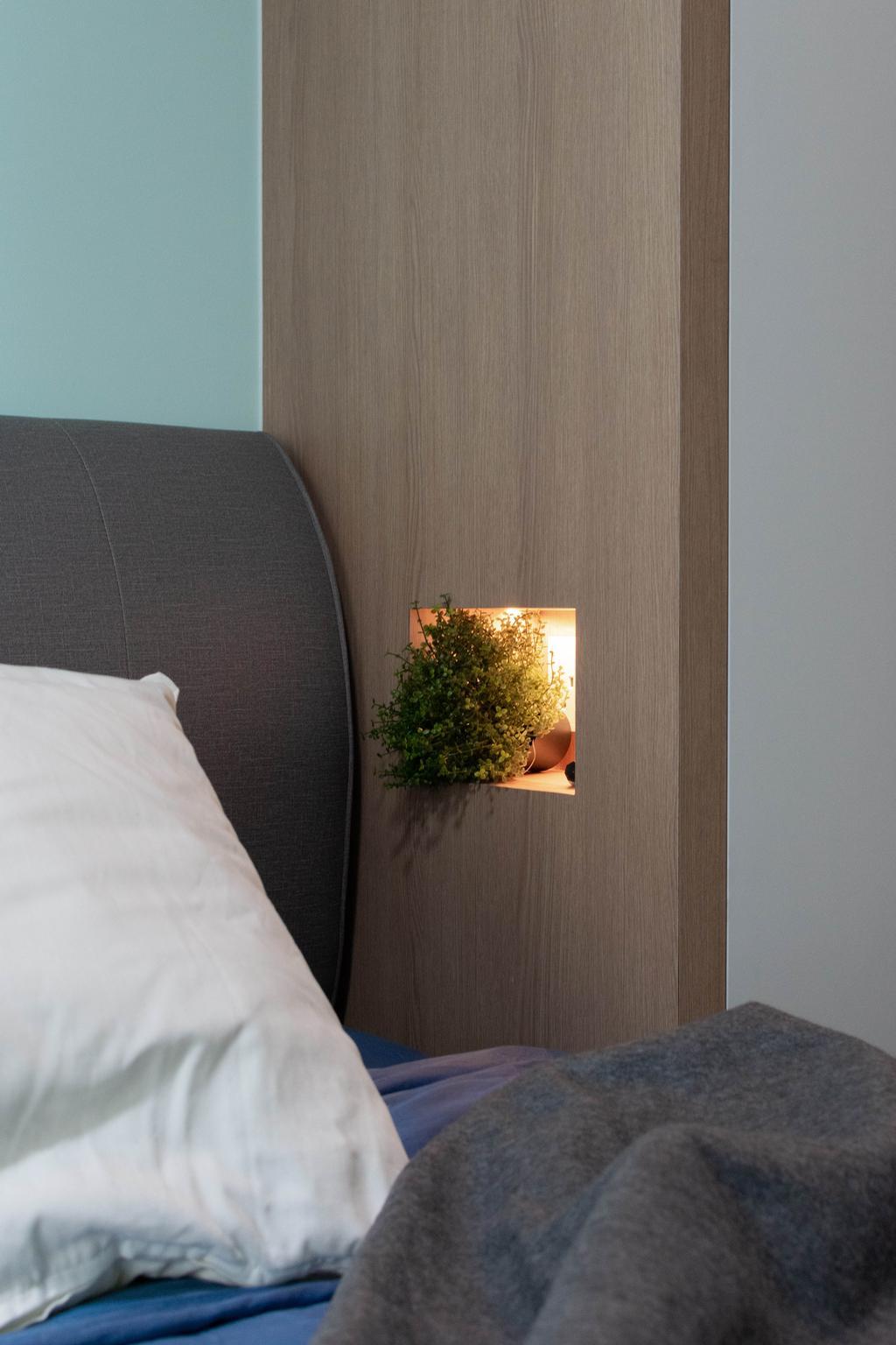 Modern, HDB, Bedroom, Northshore Drive, Interior Designer, Yang's Inspiration Design, Contemporary