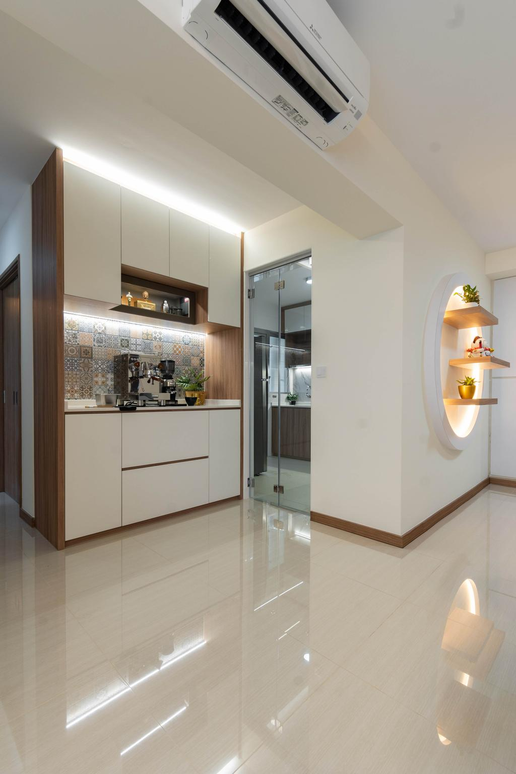 Modern, HDB, Kitchen, Northshore Drive, Interior Designer, Yang's Inspiration Design, Contemporary
