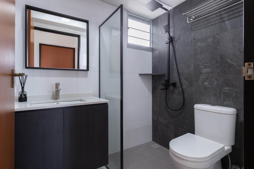 Contemporary, HDB, Bathroom, Henderson Road, Interior Designer, ELPIS Interior Design