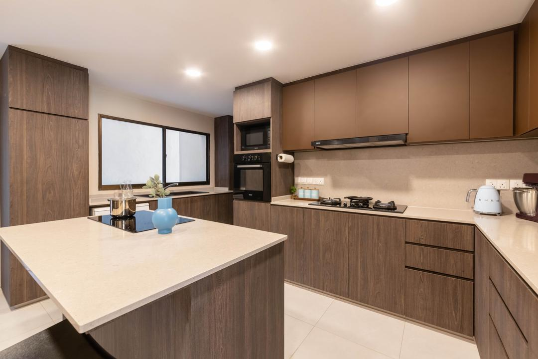 Windy Heights, Livspace, Transitional, Kitchen, Condo