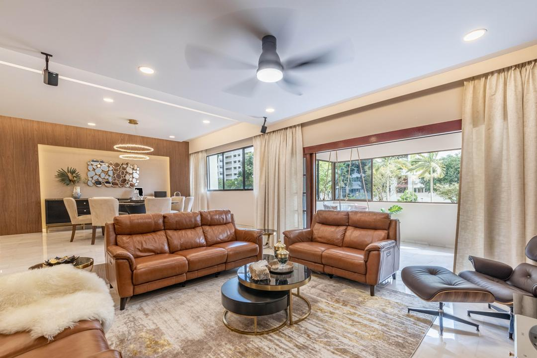 Windy Heights, Livspace, Transitional, Living Room, Condo