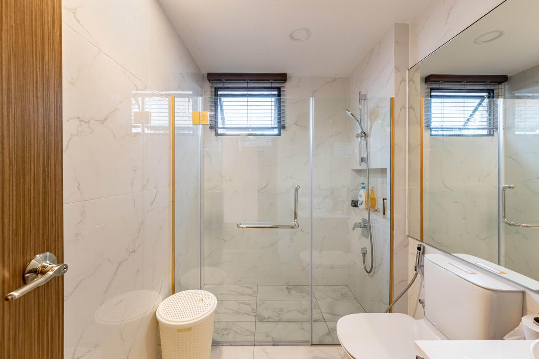Windy Heights, Livspace, Transitional, Bathroom, Condo