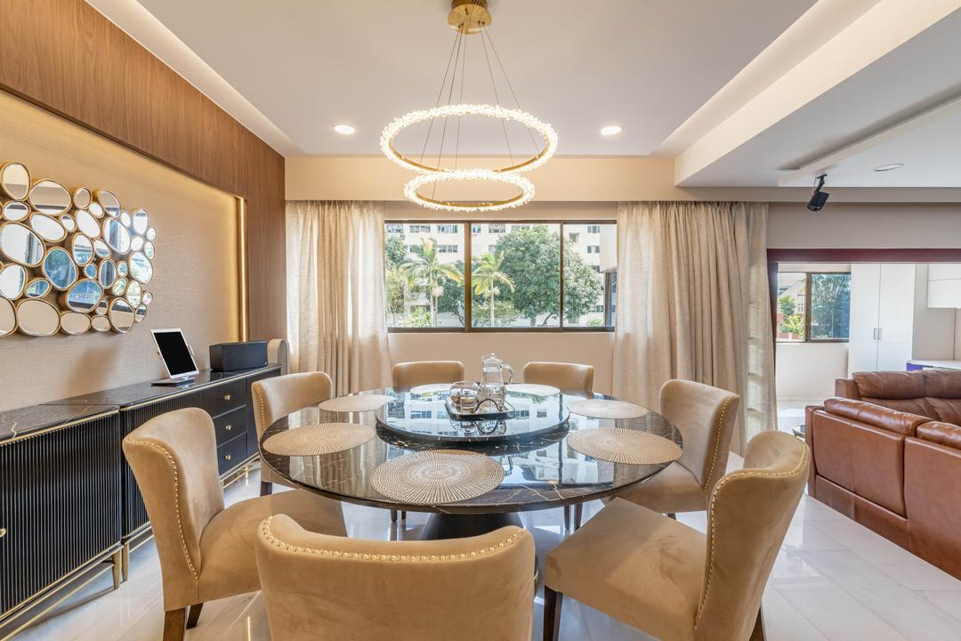Windy Heights, Livspace, Transitional, Dining Room, Condo