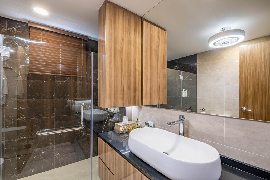 Transitional, Condo, Bathroom, Windy Heights, Interior Designer, Livspace