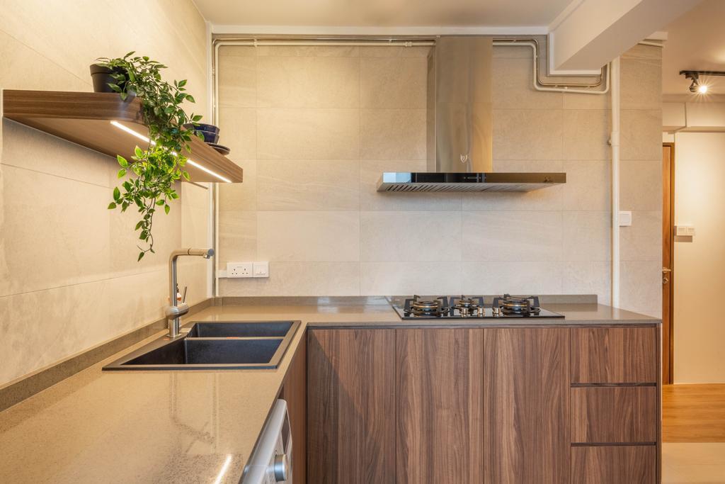 Contemporary, HDB, Kitchen, Hougang Avenue 3, Interior Designer, Livspace
