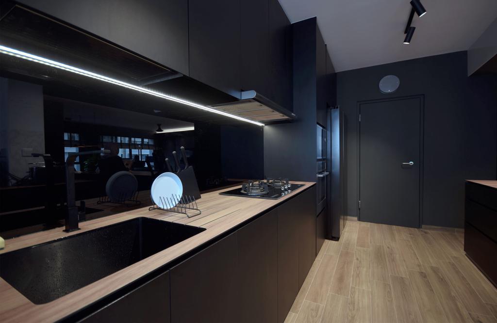 Contemporary, HDB, Kitchen, Keat Hong Lane, Interior Designer, Juz Interior