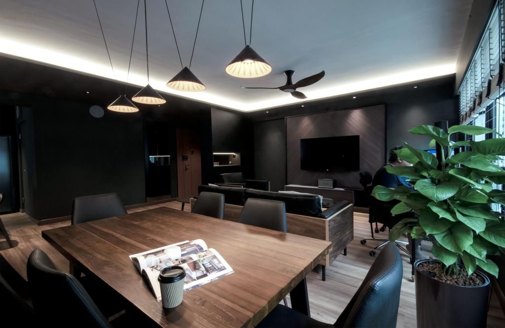Contemporary, HDB, Living Room, Keat Hong Lane, Interior Designer, Juz Interior, Black
