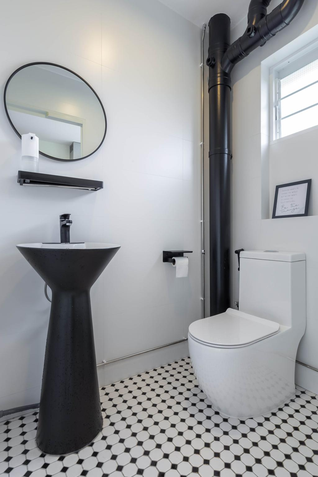 Modern, HDB, Bathroom, Bishan Street 23, Interior Designer, The Design Practice, Scandinavian