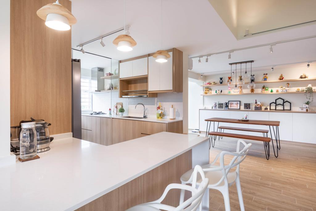Modern, HDB, Kitchen, Bishan Street 23, Interior Designer, The Design Practice, Scandinavian