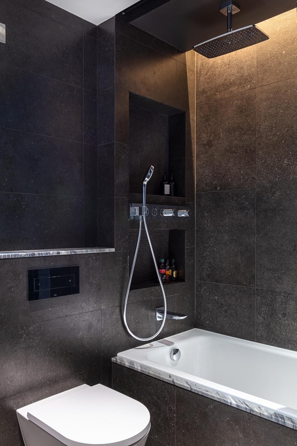 當代, 私家樓, 浴室, 德信園, 室內設計師, am PLUS