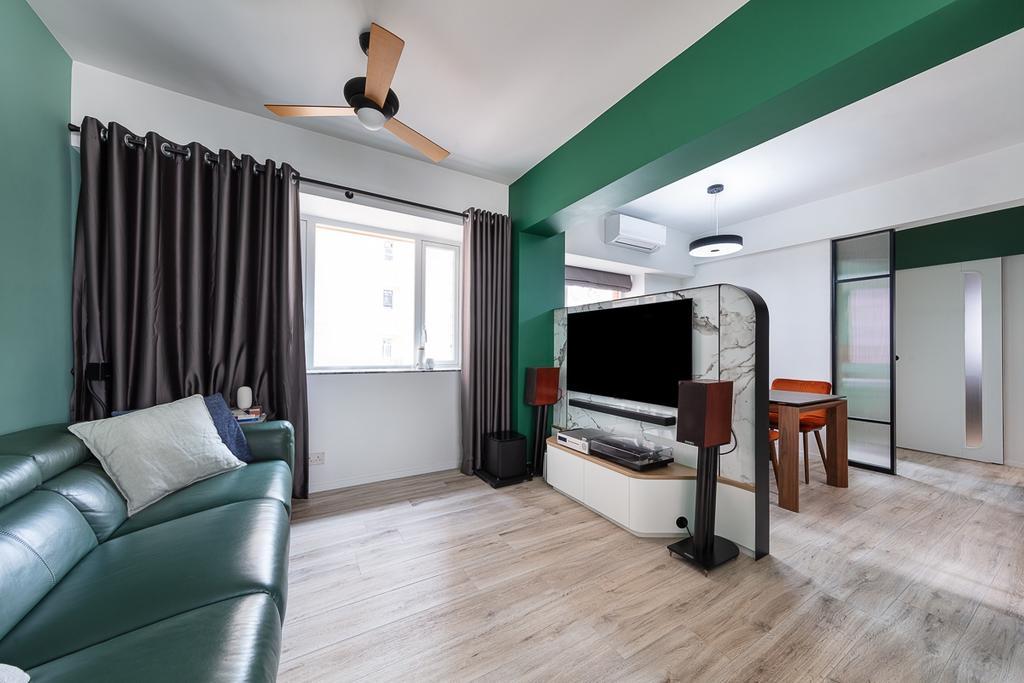 當代, 私家樓, 客廳, 德信園, 室內設計師, am PLUS