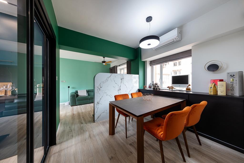 當代, 私家樓, 飯廳, 德信園, 室內設計師, am PLUS