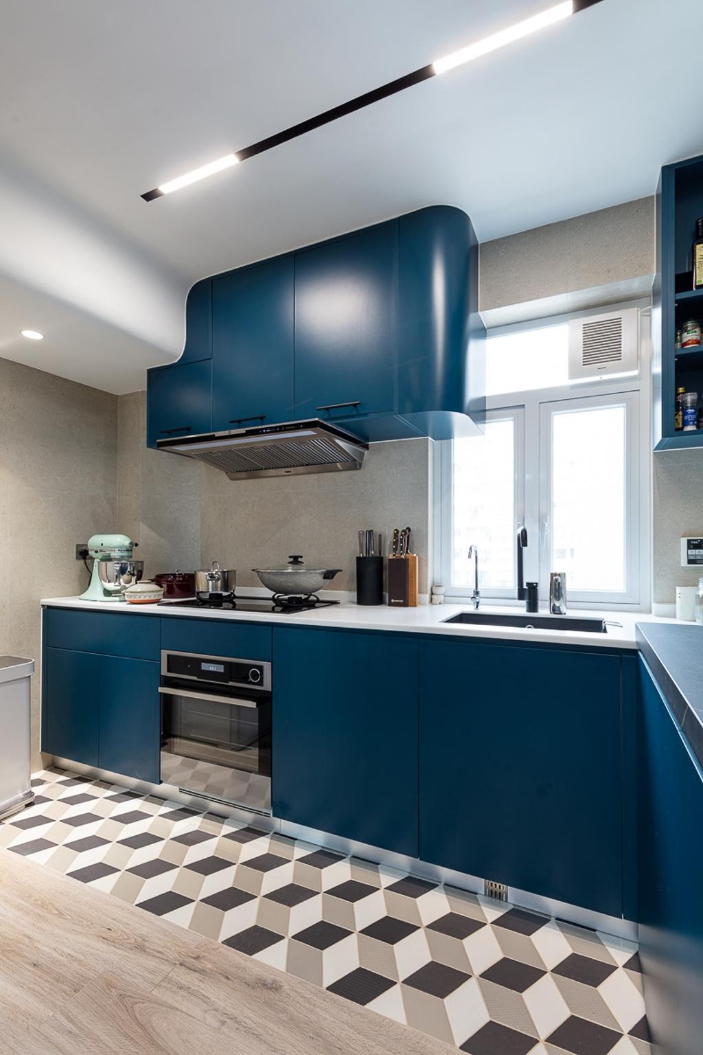 當代, 私家樓, 廚房, 德信園, 室內設計師, am PLUS