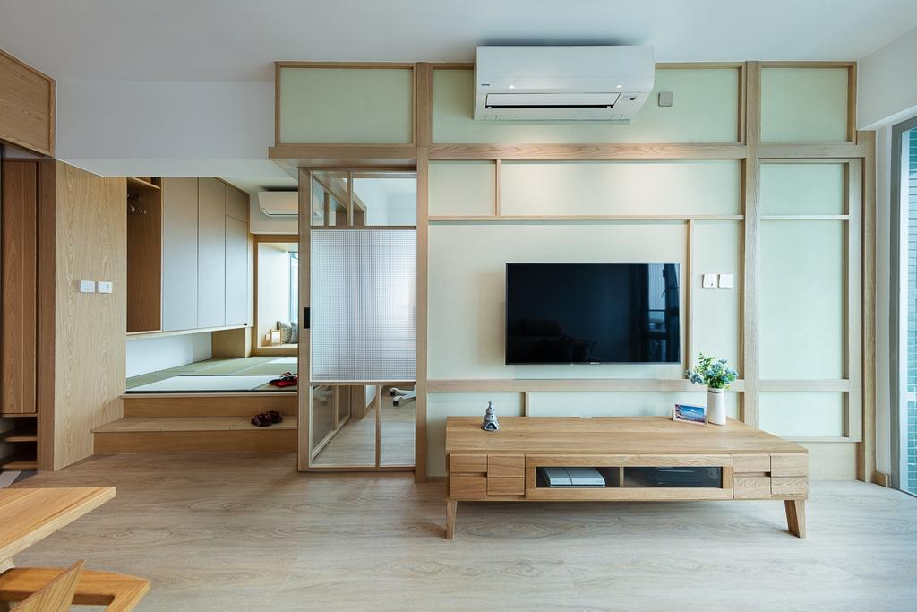 簡約, 私家樓, 客廳, 宇晴軒, 室內設計師, am PLUS, 北歐