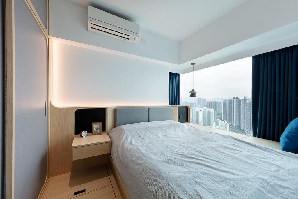簡約, 私家樓, 睡房, 宇晴軒, 室內設計師, am PLUS, 北歐