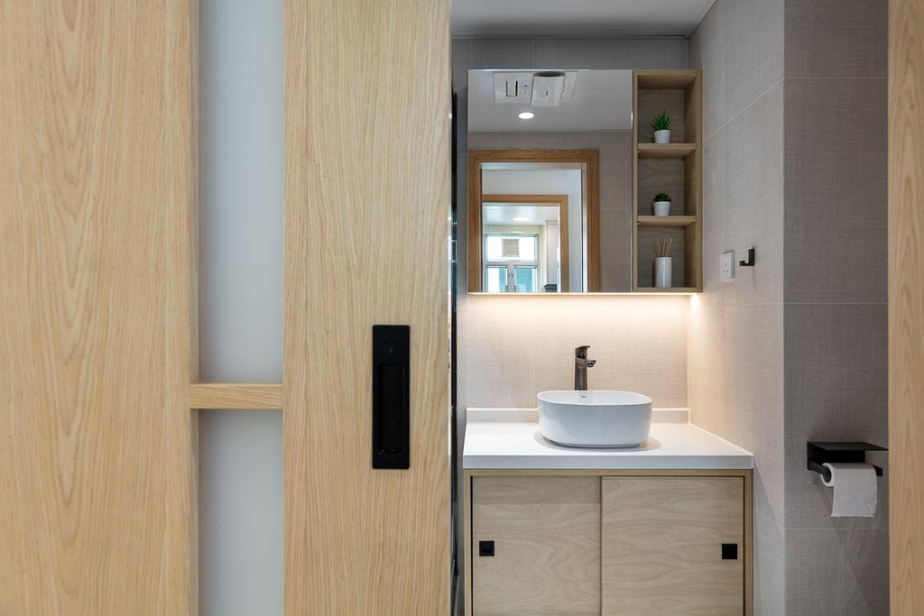 簡約, 私家樓, 浴室, 宇晴軒, 室內設計師, am PLUS, 北歐