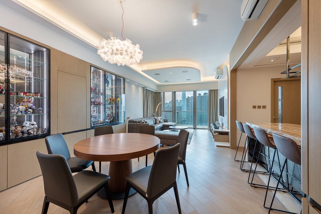 摩登, 私家樓, 飯廳, 匯璽, 室內設計師, am PLUS